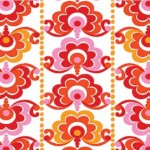 25019-cor1 Red Floral Stripe