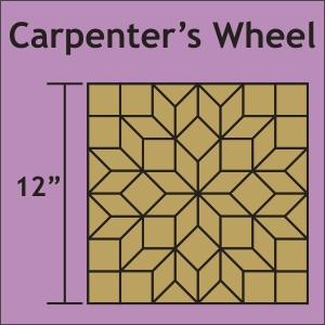 Carpenter S Wheel 12 Block Acrylic Fabric Cutting