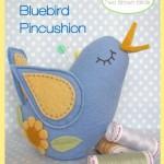 Bella Bluebird Pincushion cover