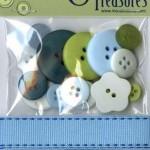 TT110 Trims & Treasures Retro Blue