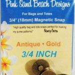 PSB211 Pink Sand Ant Gold Mag Snap 18mm