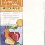 20122 wash away applique sheets