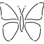 LBQ0478 Little Butterflies Stencil