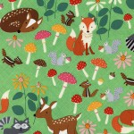 C3666-GRN Green Forest Animals