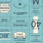 5570-22 Novelty Labels Brands Aqua