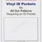 FRD10400 VInyl ID pockets