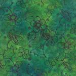 4335-15 Flower Dot Green