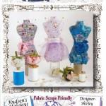 HHD267 Mini Mannequin Dress Form Pincushion