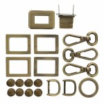 IR209-B Harpers Bag Hardware Antique Brass