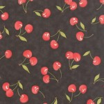 20251-18 Vintage Cherries Black