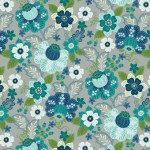 7311-90 Floral Grey