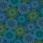 7313-76 Fronds Blue