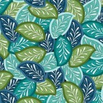 7314-76 Leaves Blue