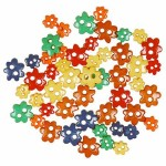 1393FF Primary mini flowers buttons