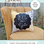 14003A Chalkboard Pillow