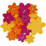 1407FF felt flower buttons