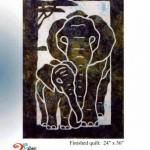 PRQ2095 elephant pacific rim quilt co