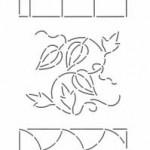 PCW1058SQC sashiko stencil mini 8