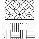 PCW107QC sashiko stencil stones circles