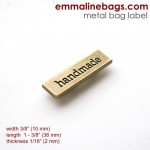 handmade metal_bag_label_antique_brass_large