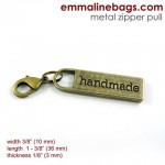 zipper_pull_handmade antique_brass_large