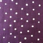 purple with cream dots