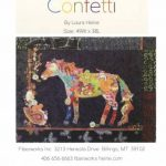 LHFWCON confetti horse collage fiberworks