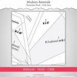 MSM106TEMPCR modern asterisk crib templates Main Street Market Designs