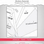 MSM106TEMPTW modern asterisk twin templates Main Street Market Designs