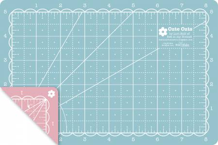 Lori Holt Reversible Cutting Mat 5in X 8in Peacock Pink