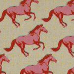 0008-12 Pink Mustang Canvas linen