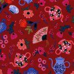 8019-2 Garden Party in Crimson