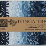 MNI-INDIGO 5 in squares tonga batik indigo dreams Timeless Treasures