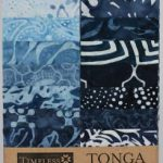 STRIPJR-INDI tonga batik indigo dreams strips