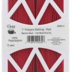 28602-4D polypro webbing red