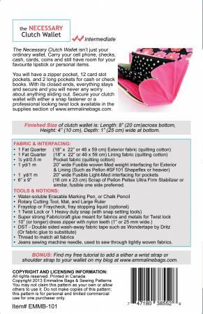 Necessary Clutch Wallet Sew Hot