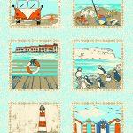 4279-B15 Seaside Squares panel