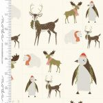 48211-12 Small Winter Critters panel