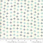 5657-27 crosses porcelain teal blue