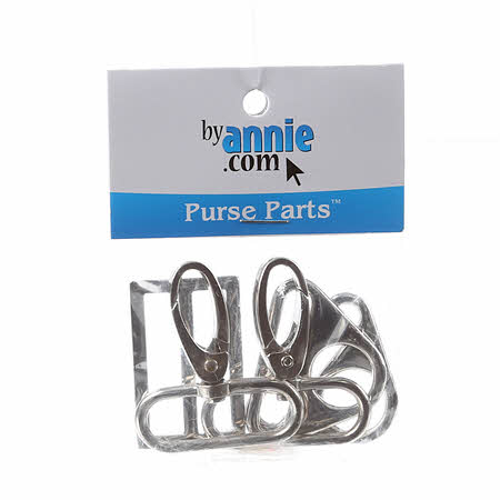By Annie Hardware Set with Triangle Rings Nickel 1-1 2in  562ff19232608
