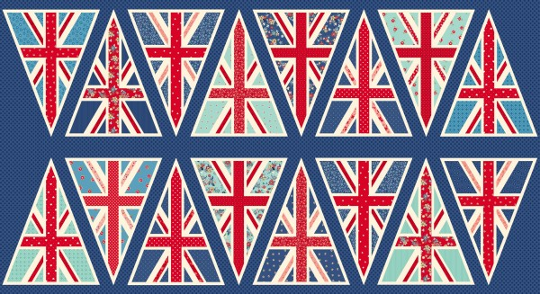 London Revisited Union Jack Bunting Panel Sew Hot