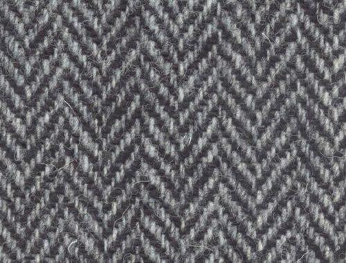 Harris Tweed Black Grey Herringbone Sew Hot