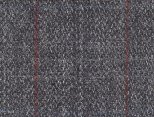 Harris Tweed Grey Check With Red Overcheck Sew Hot