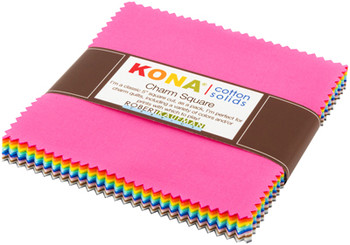 Kona Solids New Colours 2017 Charm Pack Sew Hot