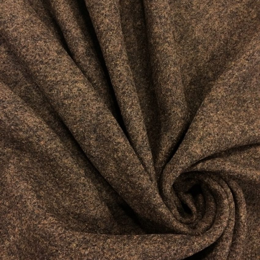 Boiled Wool Fabric Heathered Brown Sew Hot