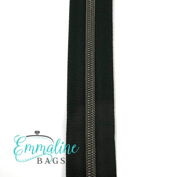 Emmaline 5 Zips By The Yard Gunmetal 10 Yards Sew Hot