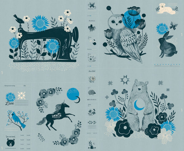 PREORDER Crescent Forest Panel Soft Blue