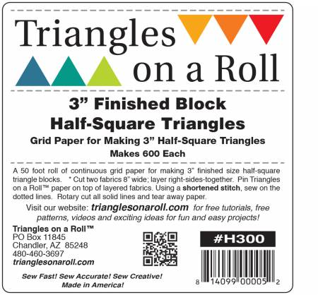 Triangles On A Roll Half Square